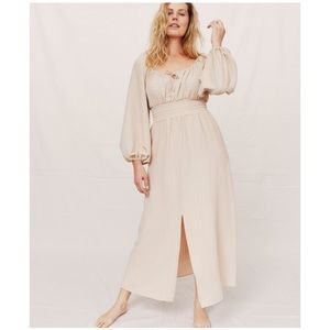 Christy Dawn Savannah Dress in Creme, Size S